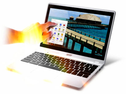 Touch screen chromebook