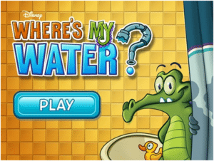 Where's my water is a educational game for your kids