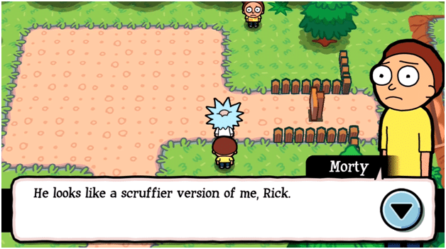 Pocket Mortys gameplay screenshot