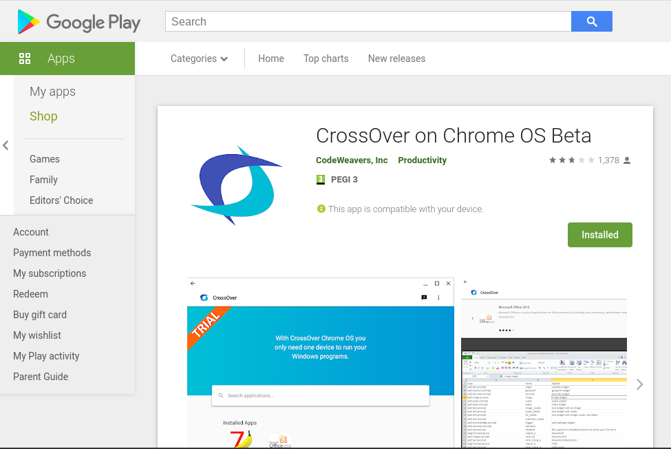 crossover on google play