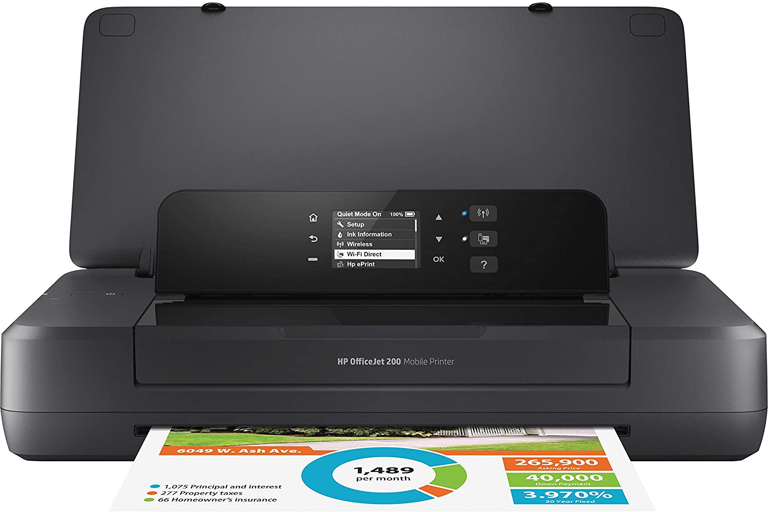 The HP OfficeJet Mobile 200 is a sleek offering from HP